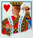 © 2011 Aron Hart, King of Hearts, Oil on Canvas, 32 x 36 inches.