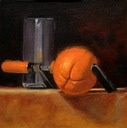 © 2011 Aron Hart, Fresh Squeezed, Oil on Linen mounted to board, 8 x 8 inches.